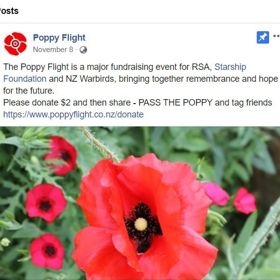 Poppy Flight Facebook