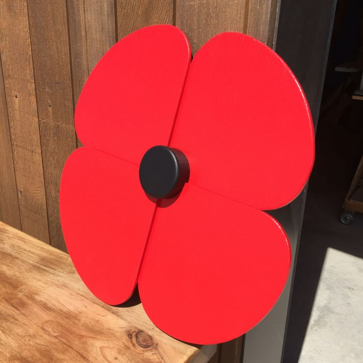 Large Wooden Poppy